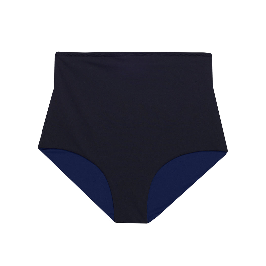 "HIGHWAIST SHORTS ""black-navy"""