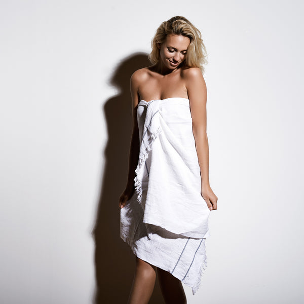 "Beach Towel ""white"""