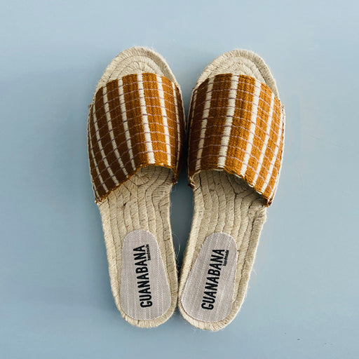 "WOVEN SLIP ON ""gold"""