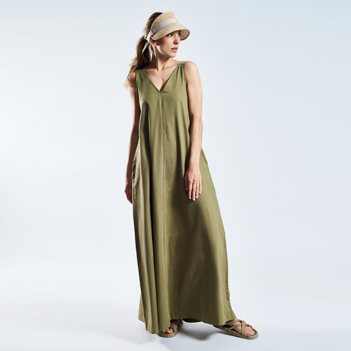"LONG SUMMER DRESS ""clay"""