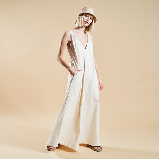"LONG SUMMER DRESS ""white"""