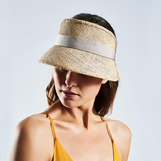 "Straw Sun Visor ""natural"""