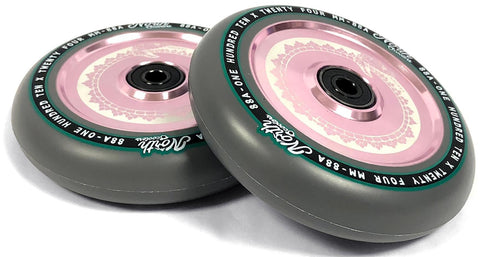 North Scooters Vacant Wheels 110mm - Grey/Rose Gold