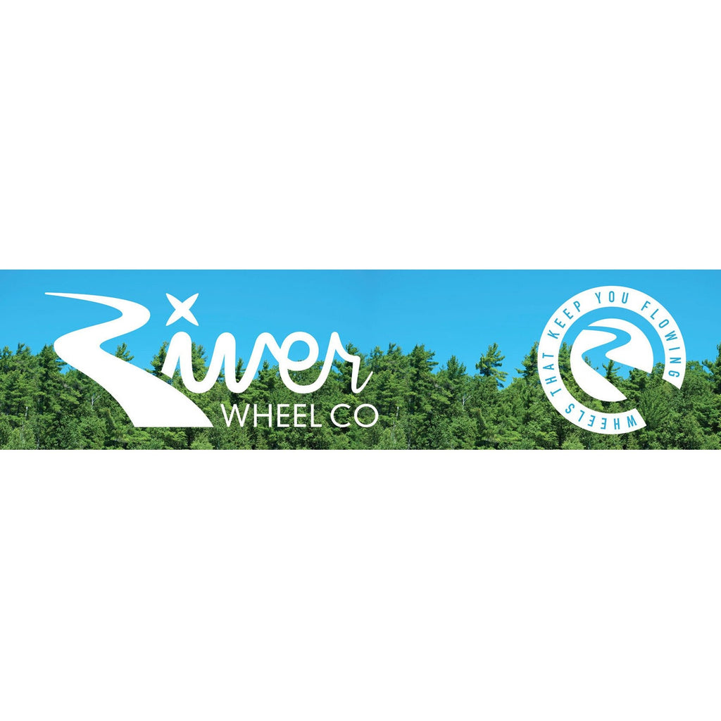 River Wheel Co Vinyl Banner