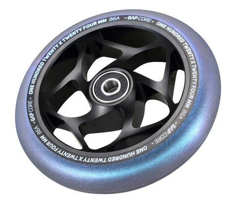 Envy - 120mm Gap Core Wheels Black/Galaxy