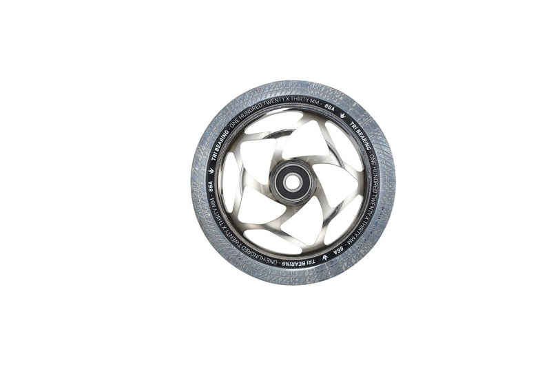 Envy - 120mm X 30mm Tri Bearing Wheel - Chrome/Clear