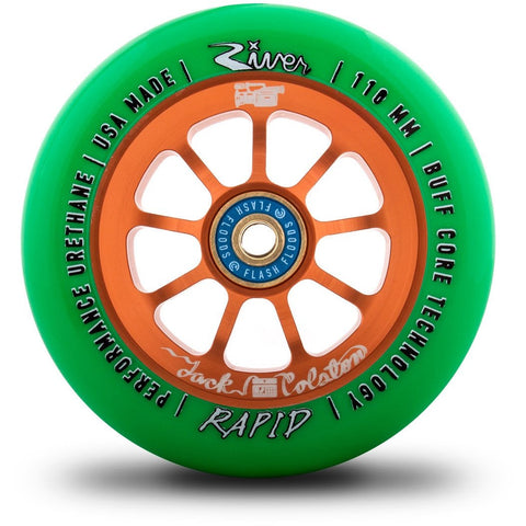 River Wheels - Rapids 110mm (Jack Colston Sig.) (Bright Green On Copper)