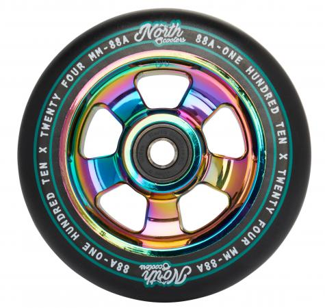 North Scooters HQ 88A Wheels - Black/Oil Slick
