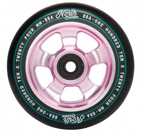 North Scooters HQ 88A Wheels - Black/Rose Gold