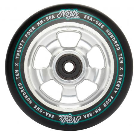 North Scooters HQ 88A Wheels - Black/Silver