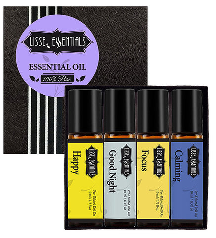 Custom Lisse Essentials, Essential Roll Oil Gift Pack - Pick Any 4 Oils