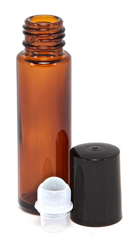 Lisse Essentials 10 ml Amber Glass Essential Oil Roll On Bottles
