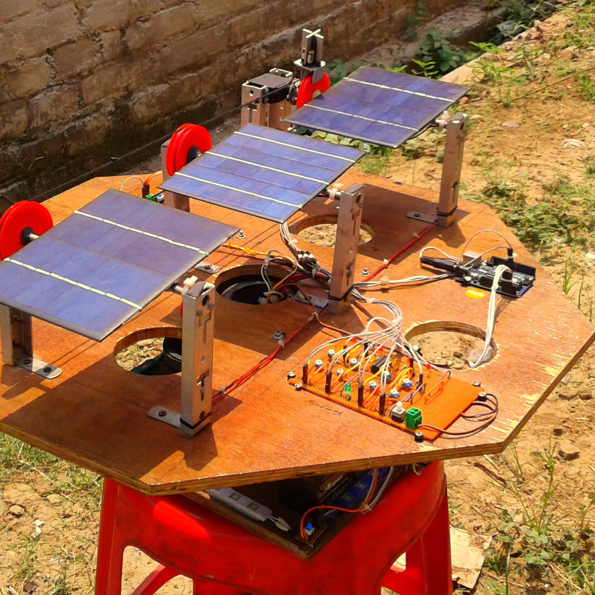 Single and dual axis solar tracker using arduino the