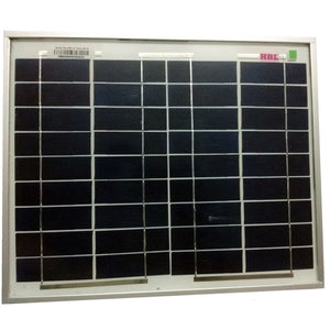 Solar Panel - HBL 10 Watt 12 Volt Portable Solar Panel