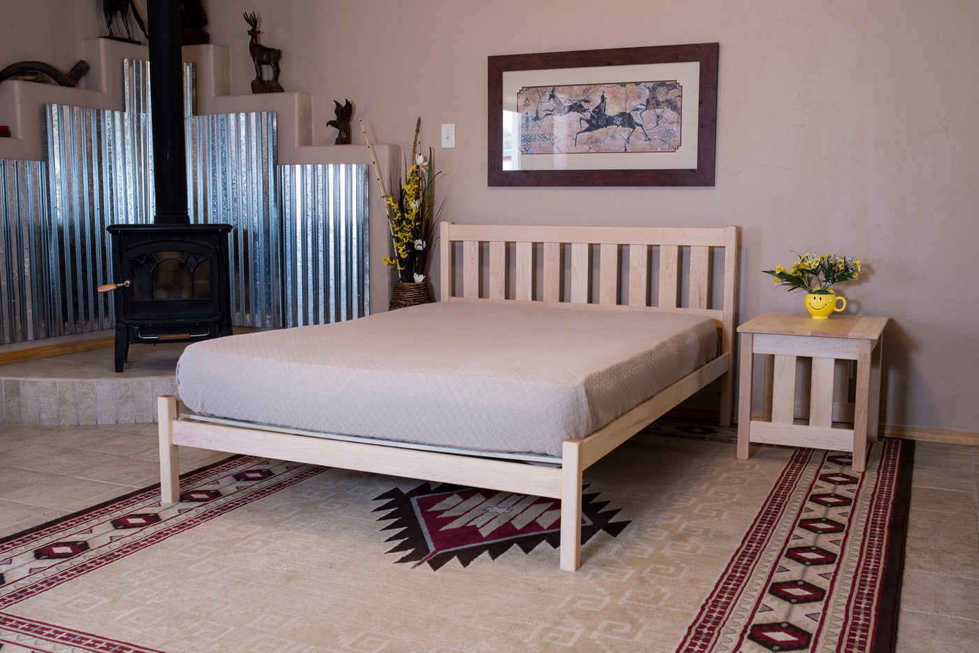 Solid Wood Platform Bed Frames