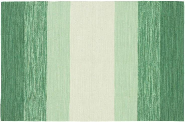 Area Rugs - Cotton - Dhurrie Rugs Contemporary Cotton Area Rug - Green Stripe