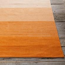 Area Rugs - Cotton - Dhurrie Rugs Contemporary Cotton Area Rug - Orange Stripe