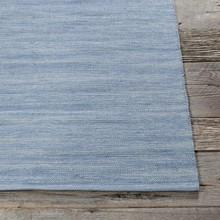 Area Rugs - Cotton - Dhurrie Rugs Contemporary Cotton Area Rug - Sky Blue