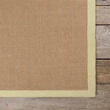 Area Rugs - Sisal Rugs - Sisal Rugs Contemporary Natural Fiber Area Rug - Green Border