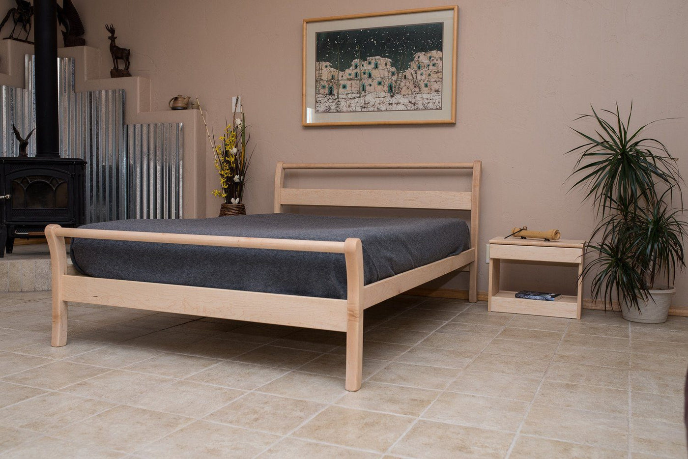with frame oak wood bed photo of storage awesome king fantastic drawers rustic varnished sleigh x size