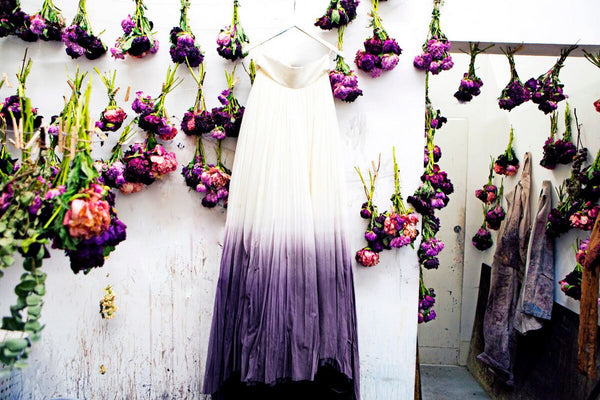 This Artist Uses Flower Scraps To Dye Wedding Dresses Stone Fox