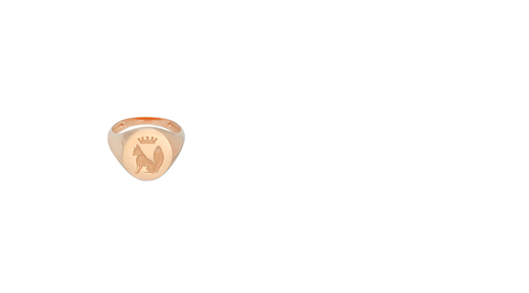 Stone Fox Bride x Iconery Gold Signette Fox Ring