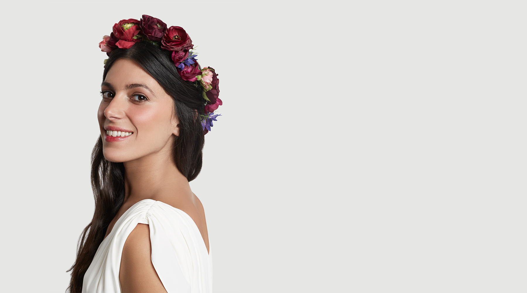 The Scarlett Ohara Floral Halo