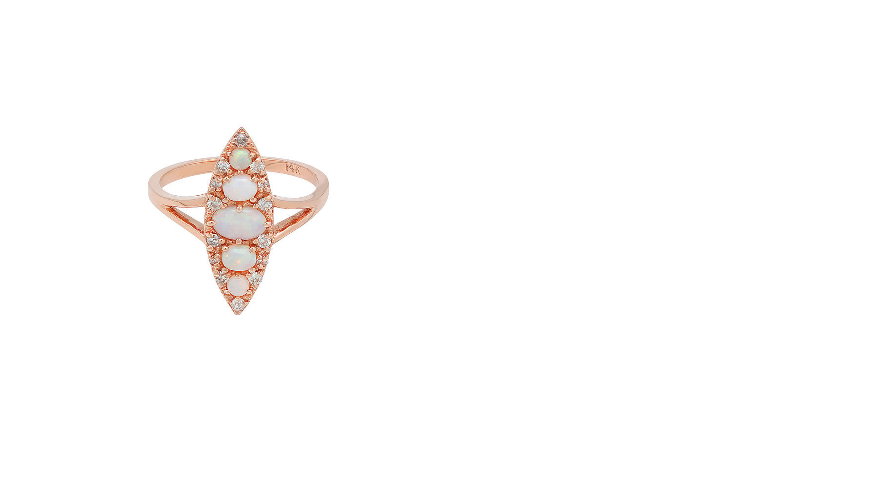Stone Fox Bride x Iconery Opal Navette Ring