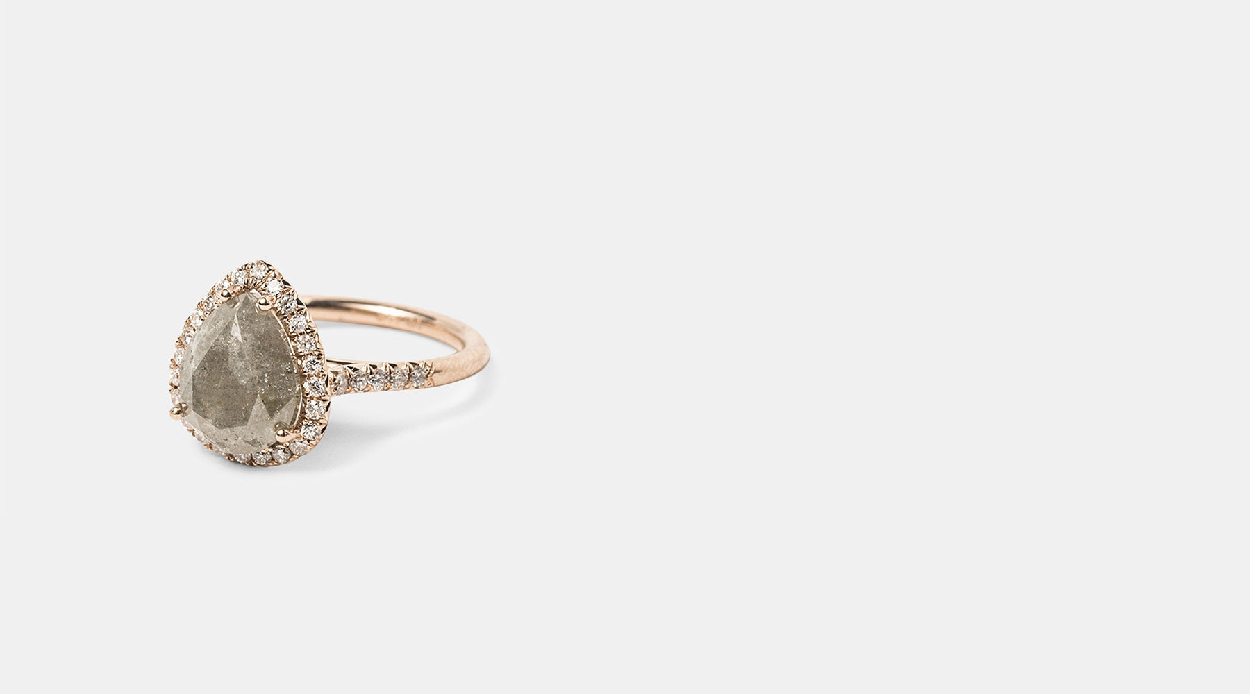 o jewelry sarah gold and web halo at burst rose raw wedding diamonds cut the edit in rough white diamond rings