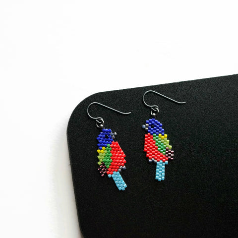 Painted Bunting Earrings