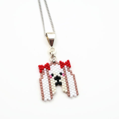 Beaded Maltese Necklace