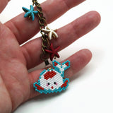 Chubby Koi Charm And Decor In Blue And Red