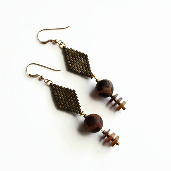 Earth Tone Tribal Earrings