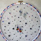 USA Themed Earring Hanger And Wall Decor