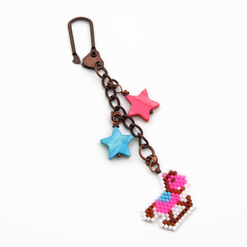Pink And Blue Rocking Horse Charm