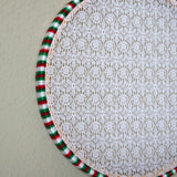 Red, White, Green Holiday Earring Hanger And Wall Decor