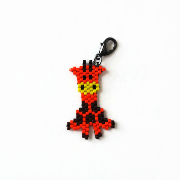 Giraffe Hand Beaded Charm And Decor