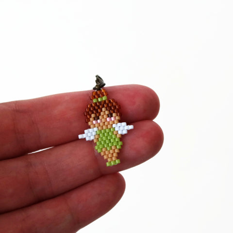 Small Beaded Fairy Charm With Lobster Clasp