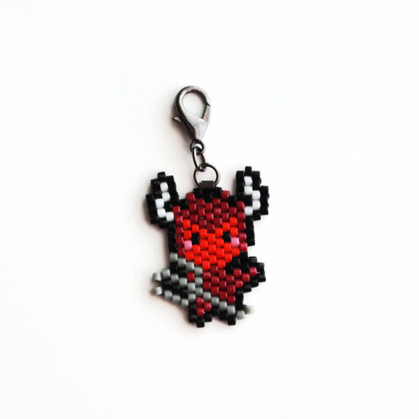 Red Devil Beaded Charm