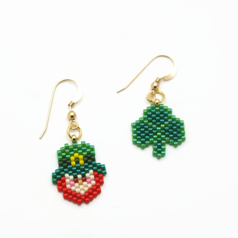 Saint Patrick's Day Earrings, Mismatched