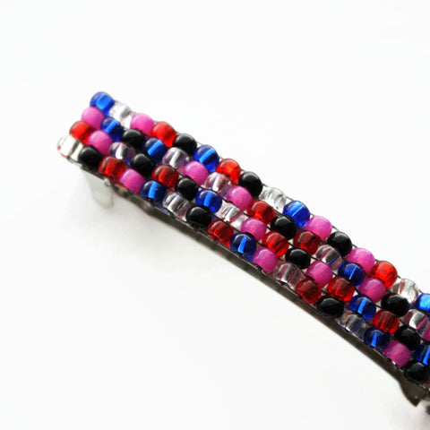 Vibrant Beaded Authentic French Barrette For Long Hair