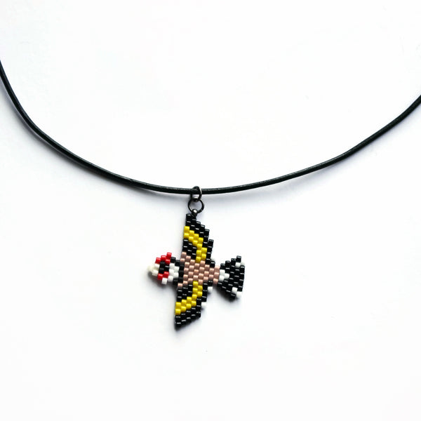 European Gold Finch Necklace