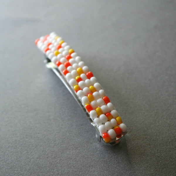 Candy Corn Inspired French Barrette, 80mm