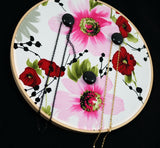 Asian Inspired Floral Earring Wall Display In Use 2