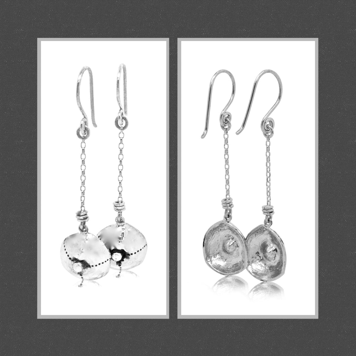 Bahari sea urchin chain drop earrings