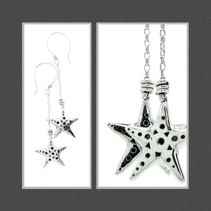 You're a Star chain drop earrings