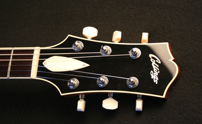 Collings CL Deluxe Goldtop Bound Headstock