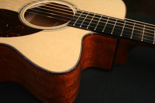 Collings OM1 Cutaway Closeup