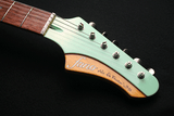 Fano JM6 Surf Green Xtra Light Relic Finish Body Headstock