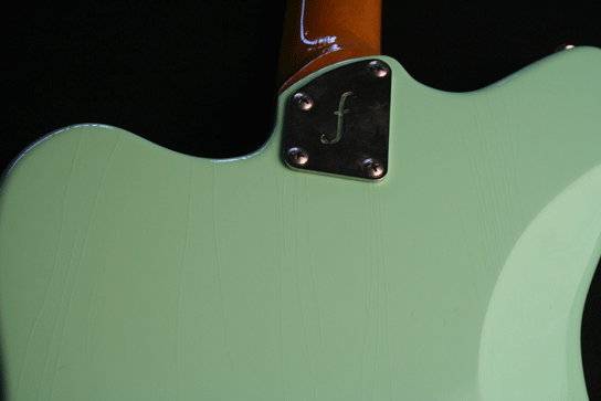 Fano JM6 Surf Green Xtra Light Relic Finish Backplate